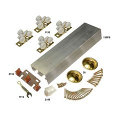 138F Series Bypass Track & Hardware Set for 2 Doors 60""