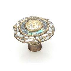 Fair Isle 1-1/2 Inch Diameter Aged Dover Cabinet Knob