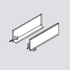 "Legrabox C 20"" Drawer Profile Left/Right Stainless Steel <small>(#770C5002I)</small>"