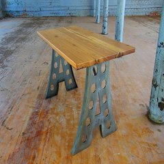 Federal Brace Alpha Industrial Table Leg Set Raw Steel W/ Clear Coat 40031