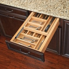 "Tiered Double Cutlery Drawer For 15"" Cabinet"