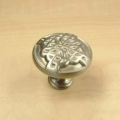 Highlander 1-3/16 Inch Diameter Dull Satin Nickel Cabinet Knob