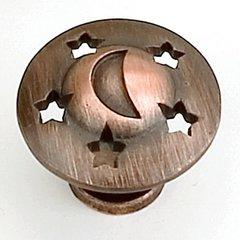 Celestials 1-1/4 Inch Diameter Venetian Bronze Cabinet Knob