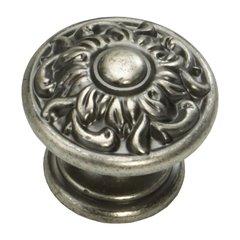 Corinthian 1-3/8 Inch Diameter Corinthian Silver Cabinet Knob