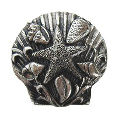 Tropical 1-5/16 Inch Diameter Brite Nickel Cabinet Knob