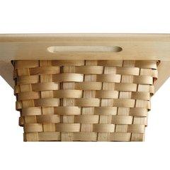 Rev-A-Shelf 4WV Base 18 Woven Basket With Rails Eucalyptus 4WV-18I