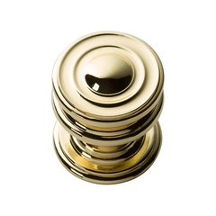 Campaign Knob 1-1/4 inch Diameter Polished Brass <small>(#376-PB)</small>