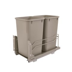 53WC Double Trash Pullout 27 Quart Champagne