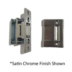 Roller Latch with Strike 3-3/8 inch x 1 inch Satin Nickel <small>(#1700-619)</small>