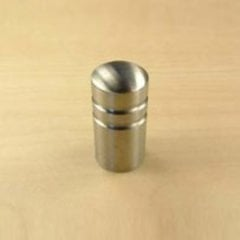 Stainless 5/8 Inch Diameter Brushed Stainless Steel Cabinet Knob <small>(#40511-32D)</small>