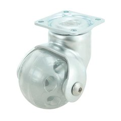 Ball Caster With Swivel - Satin Chrome