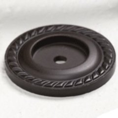 Montcalm Forged Solid Brass 1-1/2 Inch Diameter Oil Rubbed Bronze Back-plate