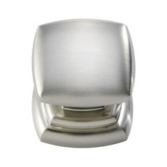 Euro-Contemporary 1-1/4 Inch Diameter Satin Nickel Cabinet Knob <small>(#P3181-SN)</small>