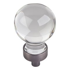 """Harlow Cabinet Knob 1-1/16"""" Dia - Brushed Pewter <small>(#G130BNBDL)</small>"""