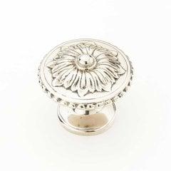 Sonata 1-1/4 Inch Diameter White Brass Cabinet Knob