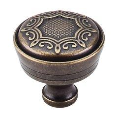 Edwardian 1-5/16 Inch Diameter German Bronze Cabinet Knob <small>(#M954)</small>