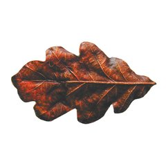 Leaves 2-1/4 Inch Diameter Brass Hand Tinted Cabinet Knob
