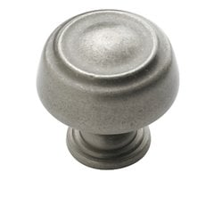 Kane 1-1/4 Inch Diameter Weathered Nickel Cabinet Knob <small>(#BP53700WN)</small>