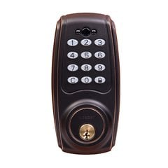 Transitional Electronic Keypad Deadbolt Grade 3 Aged Bronze