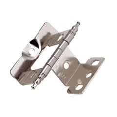 Full Inset Minaret Tip Hinge Sterling Nickel - Sold Each