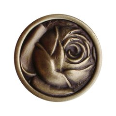 English Garden 1-5/16 Inch Diameter Antique Brass Cabinet Knob <small>(#NHK-280-AB)</small>