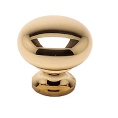 Plymouth 1-1/4 Inch Diameter Polished Brass Cabinet Knob
