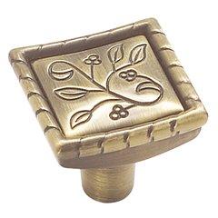 Vineyard 1-1/8 Inch Diameter Elegant Brass Cabinet Knob