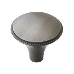 Atherly 1-3/16 Inch Diameter Antique Silver Cabinet Knob <small>(#BP29310AS)</small>