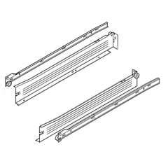 "Metabox Slide 2""H X 20""L - White W/ Front Fix Brackets <small>(#320N5000C15)</small>"