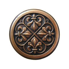 Olde World 1-3/8 Inch Diameter Antique Copper Cabinet Knob