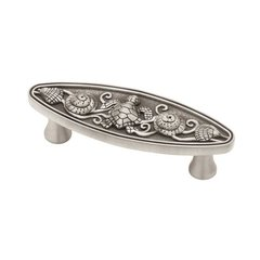 Seaside Cottage 3 Inch Center to Center Brushed Satin Pewter Cabinet Pull