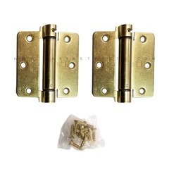 LB4311-350 1/4 inch Radius Corner Single Act Spring Hinge -Brass