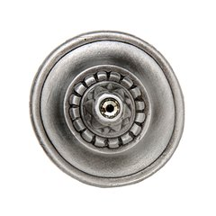 King's Road 1-1/4 Inch Diameter Antique Pewter Cabinet Knob