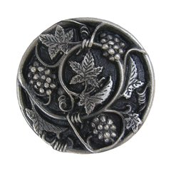 Tuscan 1-5/16 Inch Diameter Antique Pewter Cabinet Knob