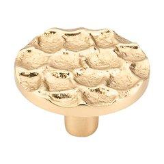 Cobblestone 1-15/16 Inch Diameter Brass Cabinet Knob <small>(#TK297BR)</small>