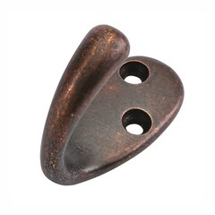 Single Utility Coat Hook Dark Antique Copper