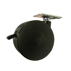 Furniture Caster With Swivel & Brake - Black <small>(#21000290)</small>
