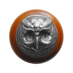 Great Outdoors 1-1/2 Inch Diameter Antique Pewter Cabinet Knob <small>(#NHW-711C-AP)</small>