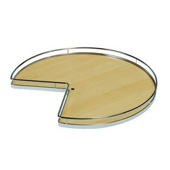 Super Susan Pie Cut Lazy Susan Set 32 inch Maple/Chrome
