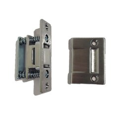 Roller Latch with Strike 3-3/8 inch x 1 inch Satin Chrome <small>(#1700-626)</small>