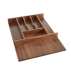 Trimmable Cutlery Tray 15-1/8 inch W Walnut
