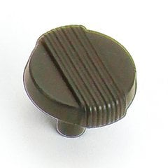 Wired 1-1/4 Inch Diameter Oil Rubbed Bronze Cabinet Knob