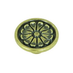 Cornell 1-5/8 Inch Diameter Brushed Antique Brass Cabinet Knob <small>(#CP82404-ABR)</small>