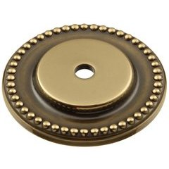 "Savannah Back-plate 1-1/2"" Dia Sherwood Antique Brass"