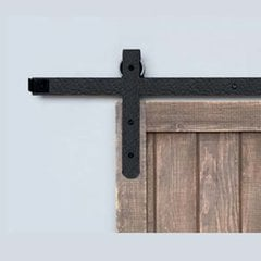 Designer Barn Door Rolling Hardware Rough Iron <small>(#BH7BI)</small>