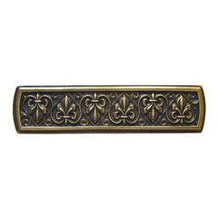 Olde World 3 Inch Center to Center Antique Brass Cabinet Pull <small>(#NHP-660-AB)</small>