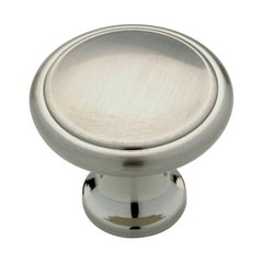 Contemporary 1-3/16 Inch Diameter Satin Nickel Cabinet Knob