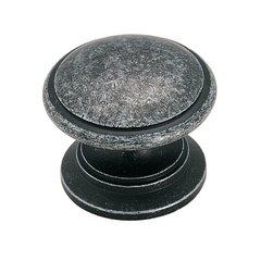 "Knob 1-1/4"" Dia Antique Silver <small>(#BP1387AS)</small>"