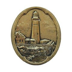 Tropical 1-1/2 Inch Diameter Brite Brass Cabinet Knob