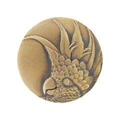 Tropical 2 Inch Diameter Antique Brass Cabinet Knob <small>(#NHK-327-AB-R)</small>